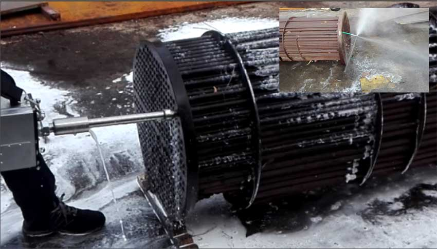 Heat Exchanger Cleaning With Video In Action By Idrojet Srl